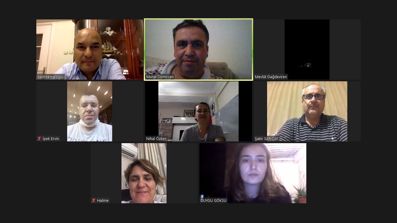 EMD İzmir Yönetimi online toplandı