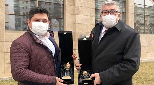 Yusuf Şahbaz ve Merih Ak'a Tarım ve Orman Bakanlığı'ndan ödül